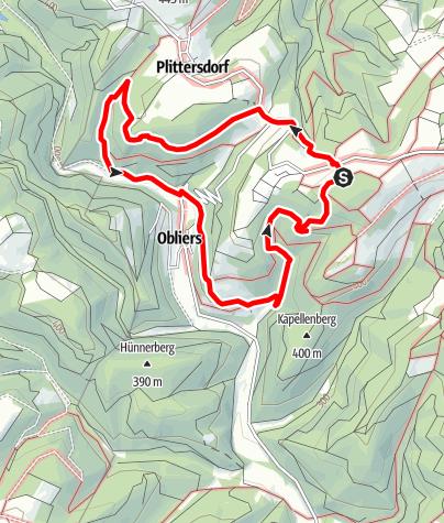Karte / Dreidörferweg Lind - Rundweg