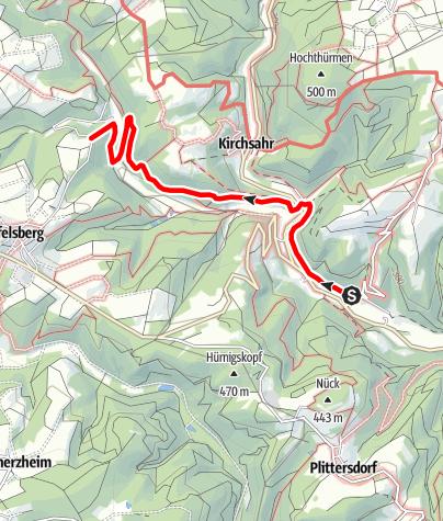 Karte / Milchstraßenweg - Wanderparadies Sahrbachtal