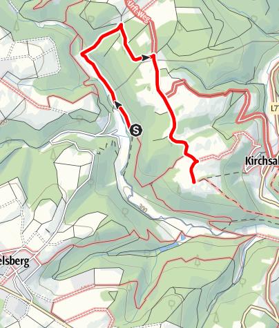 Karte / Galaxienweg - Wanderparadies Sahrbachtal