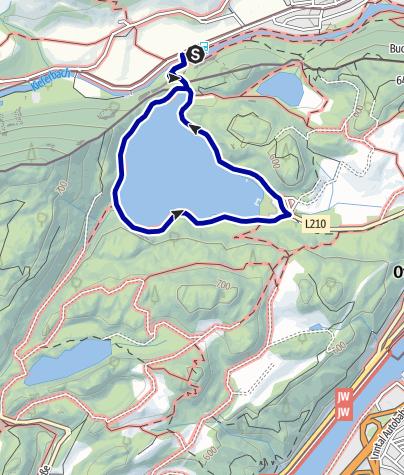 Karte / Wandern von Kiefersfelden aus - um den Hechtsee