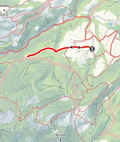 """Karte / Wandern von Gritschen aus  - """"Wallfahrt nach Kirchwald"""""""