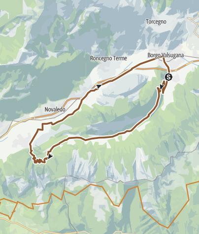 Karte / Valsugana&Lagorai - Tour der Val di Sella 2344