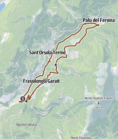 Karte / Valsugana&Lagorai - Runde der kleinen fruchte 2349