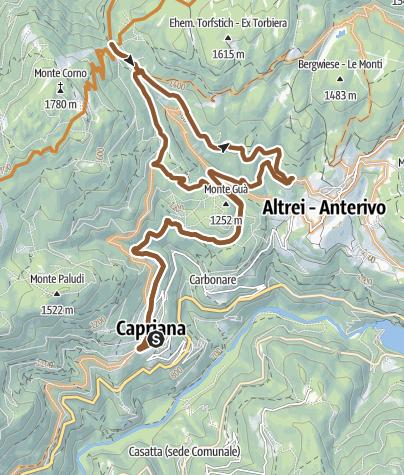 Karte / Tour des Naturparks Trudner Horn - Capriana - Altrei -Tour 921
