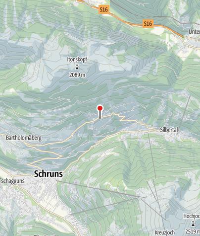 Karte / Bartholomäberg, Kuratienkirche zu Unserer Lieben Frau Mariä Unbefleckte Empfängnis und Friedhof