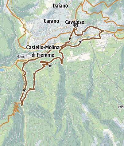 Karte / Tour des Wasserfalls - Cadinotal - Tour 925