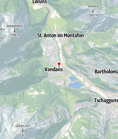 Karte / Vandans, Alte Pfarrkirche Heiliger Johannes der Täufer mit Friedhof