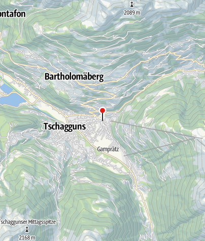 Karte / Schruns, Katholische Pfarrkirche Heiliger Jodok