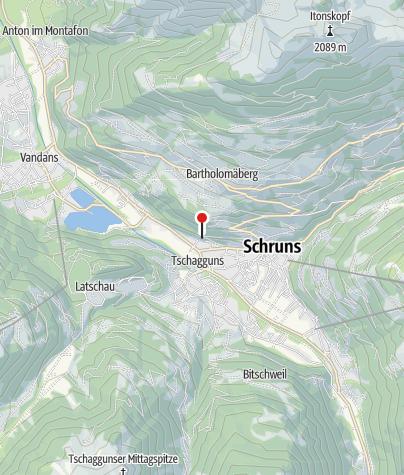 Karte / Schruns, Kapuzinerkloster Gauenstein, Klosterkirche Schmerzhafte Mutter Gottes, Gartenmauer