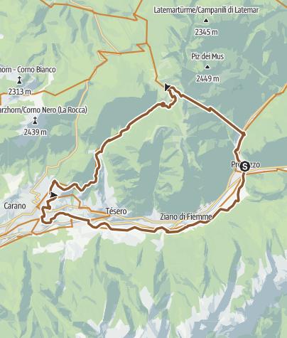 Cartina / Tour della Val di Fiemme  - I paesi della Magnifica Comunità - Tour 928