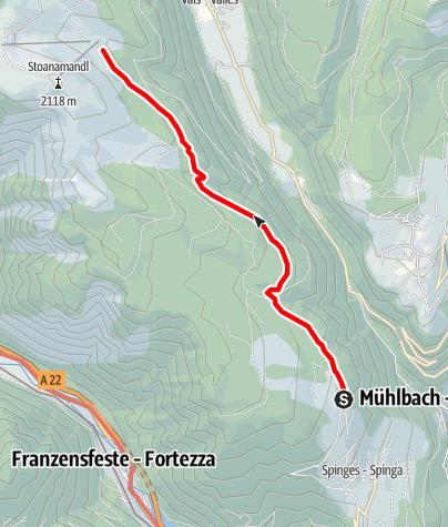 Karte / Wanderung Parkplatz Naherholungszone Bunker - Anratterhütte