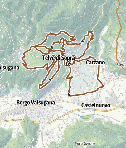 Karte / Valsugana&Lagorai - 2341 3TBIKE
