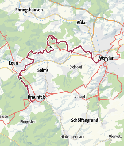 Karte / Bergmannsroute (Lahn-Facette)