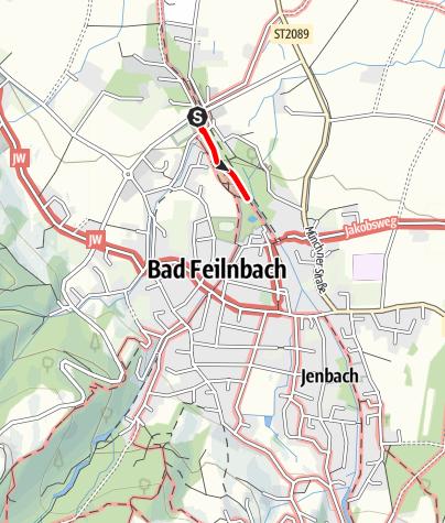 Karte / Wandern von Bad Feilnbach aus - Auf Gottes Spuren