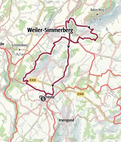 Map / Von Oberreute über den Balzenberg