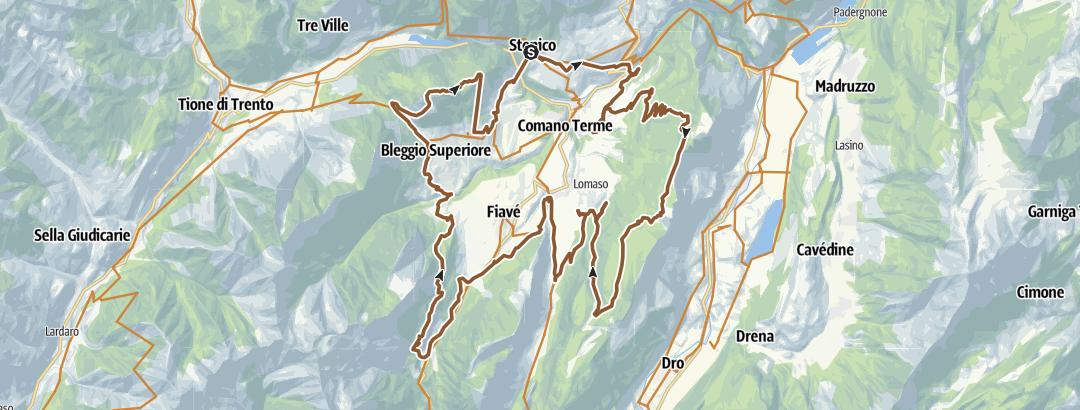 Static Map Dolomiti di Brenta Bike Explorer - Terme di Comano: il monte Casale, Lomaso e Bleggio