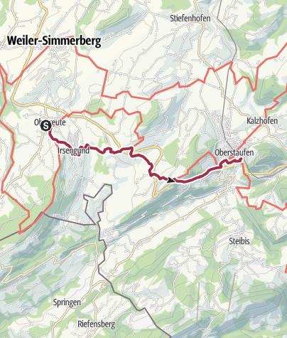 Map / Von Oberreute nach Oberstaufen