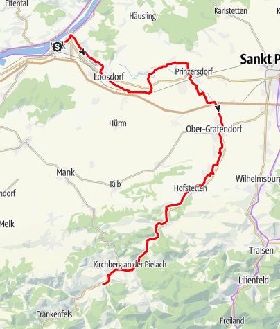 Karte / Pielachtalradweg