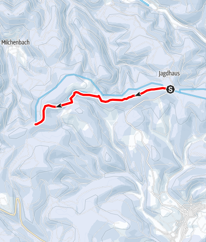 Karte / Rothaar-Loipe Abschnitt Magaretenstein - Jagdhaus