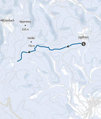 Map / Rothaar-Loipe Abschnitt Magaretenstein - Jagdhaus
