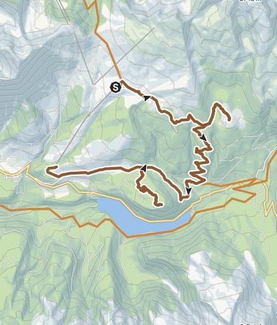 Cartina / Percorso delle baite e delle malghe . Parco Naturale di Paneveggio - Tour 932