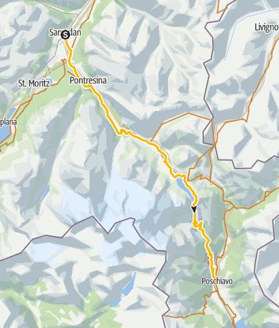 Karte / 673 Bernina-Express