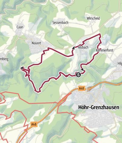 Karte / Wäller Tour Brexbachschluchtweg