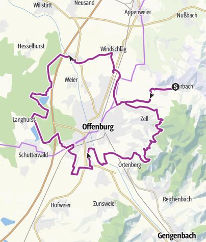 Karte / Durbach - Durch Wald, Reben und Seen