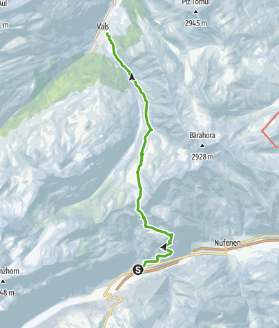 Cartina / 35.02 Walserweg Graubünden Etappe 2: Hinterrhein - Vals