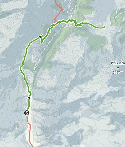 Cartina / 35.04 Walserweg Graubünden Etappe 4: Safien Turrahus - Glaspass