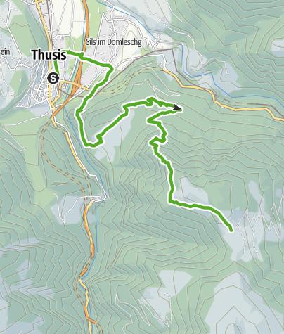 Karte / 35.06 Walserweg Graubünden Etappe 6: Thusis - Obermutten