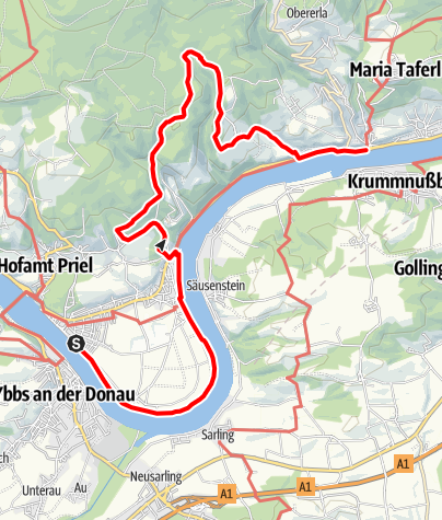 Map / Nibelungengau long distance trail 2: Persenbeug - Marbach