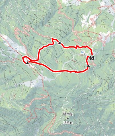 Karte / Wandern am Verditz - Schwarzsee Rundwanderweg
