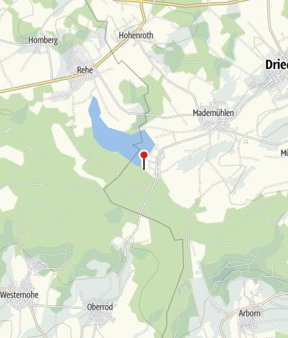 Kaart / Campingplatz Krombachtalsperre