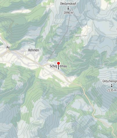 Karte / Schoppernau, Katholische Pfarrkirche Heiliger Philippus und Heiliger Jakobus