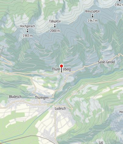 Karte / Thüringerberg, Katholische Pfarrkirche Heiliger Andreas