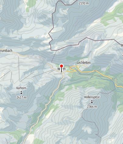 Karte / Warth, Katholische Pfarrkirche Heiliger Sebastian