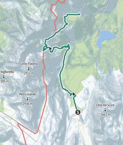 Map / Brenta Trek - Tappa 6 - Malga Flavona – Rif. Peller