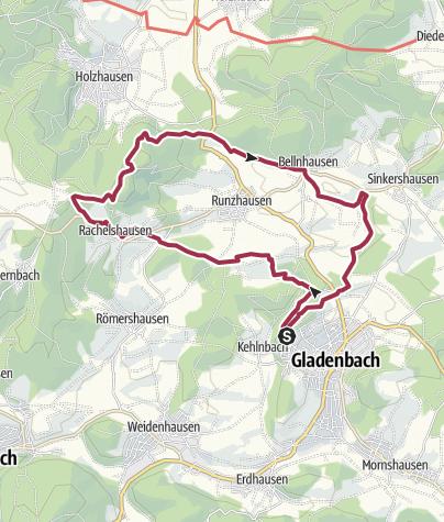 Karte / Extratour Gladenbacher Berglandring