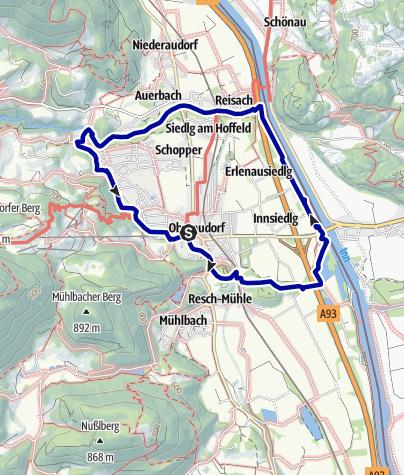 Karte / Oberaudorfer Rundweg - der Klassiker in Oberaudorf