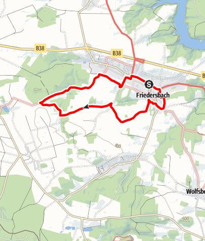 Mapa / Sonnenweg Friedersbach