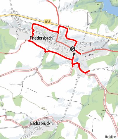 Mapa / Storchenblickweg Friedersbach