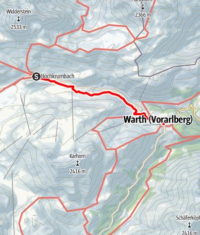 Karte / 09 Hochtannbergpass - Warth