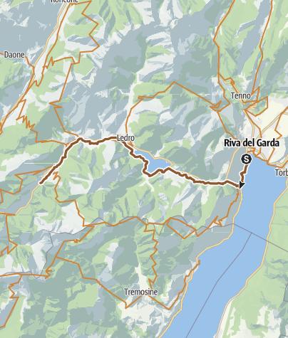Karte / An drei Seen: vom Gardasee zum Ledrotal