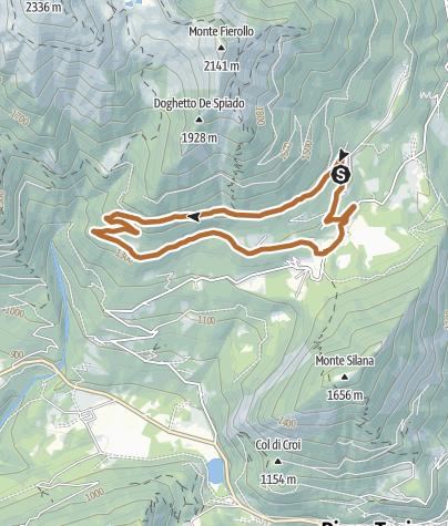 Karte / Die Strecke Spiado