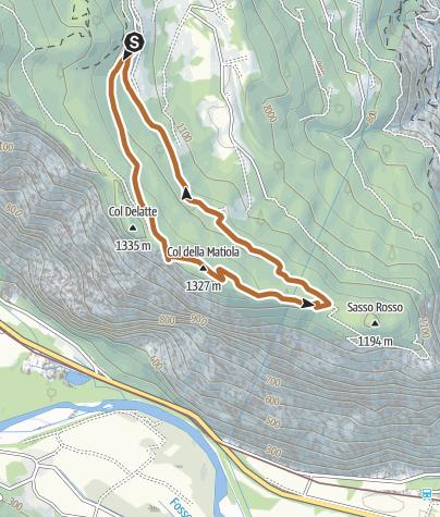 Karte / Die Strecke Col dei Duri