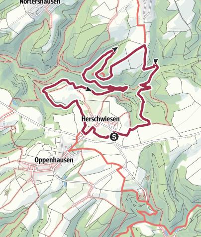Karte / Traumschleife Hasenkammer