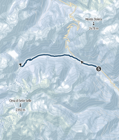 Kaart / Toerskiën naar Malga Cagnon