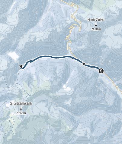 Karte / Skitour nach Malga Cagnon