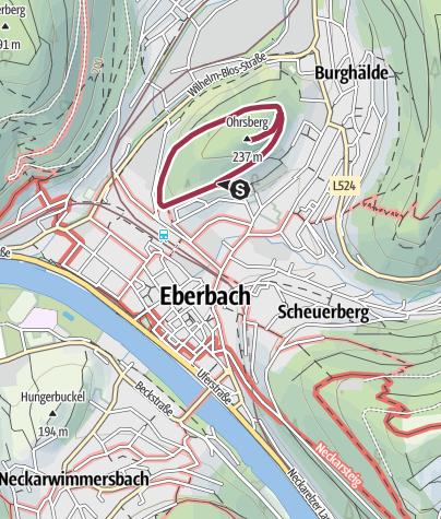 Karte / Ohrsbergrundweg - Stadtnaher Aussichtsturm